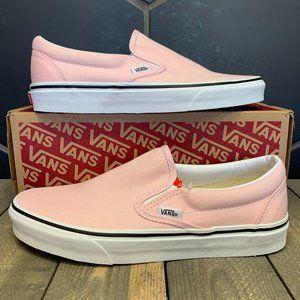 Vans Classic Slip On Pink White Size 7.5